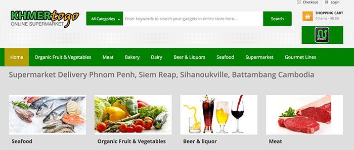 カンボジアでオンラインスーパーマーケットが本格稼働、卸売機能も