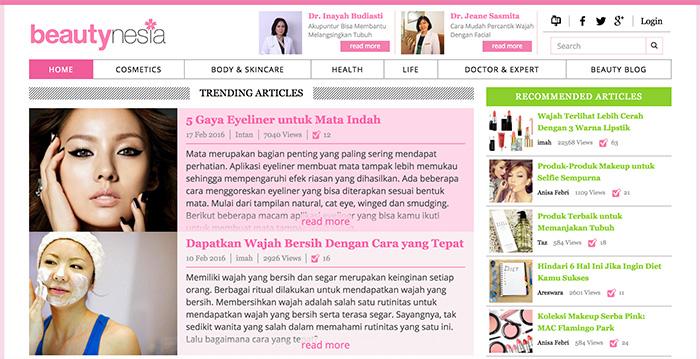 インドネシアで日系企業の手掛ける美容サイト「beautynesia」が人気