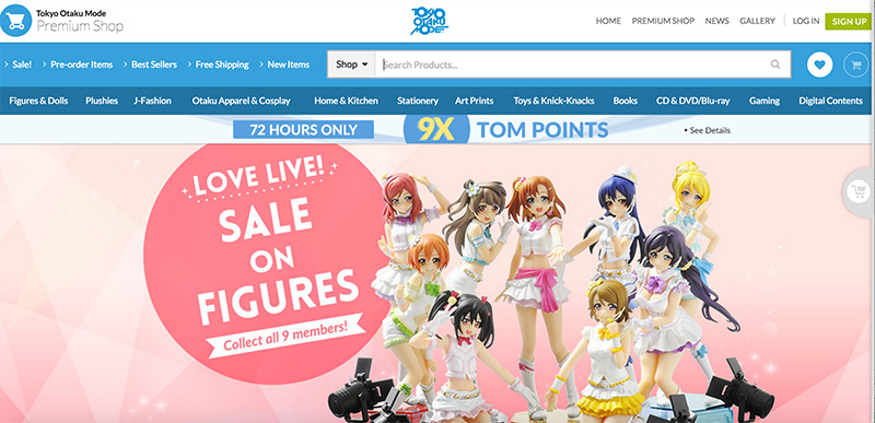 Tokyo Otaku Mode、テレビ局と提携し、東南アジアでグッズ販売