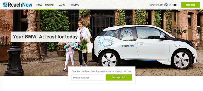 BMW、米シアトルでカーシェアリングの新サービス「リーチナウ」開始