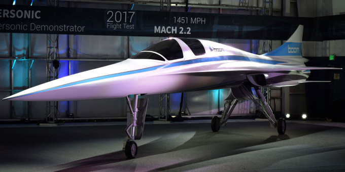 コンコルド型の音速小型旅客機 ニューヨーク〜ロンドンまで3.5時間