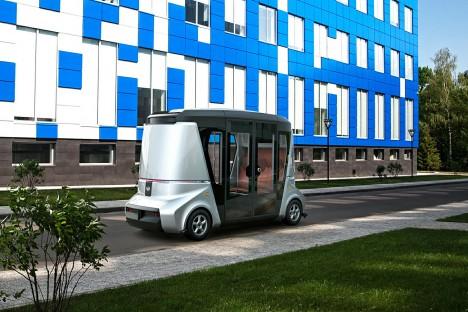 ロシアでの無人自動運転バス開発