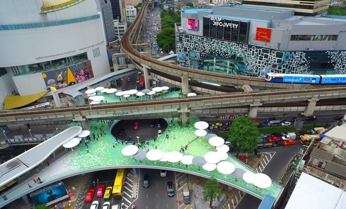バンコク・パトゥムワン交差点で新スカイウィークが完成、ネーミングも募集