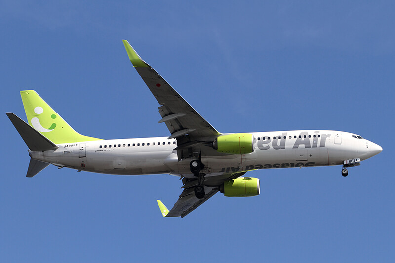 「ソラシドエア」が「大分-台北のチャーター便」を運航