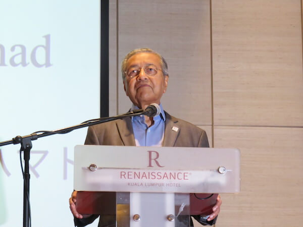 マハティール首相がインドネシア政府の教育大臣を兼任