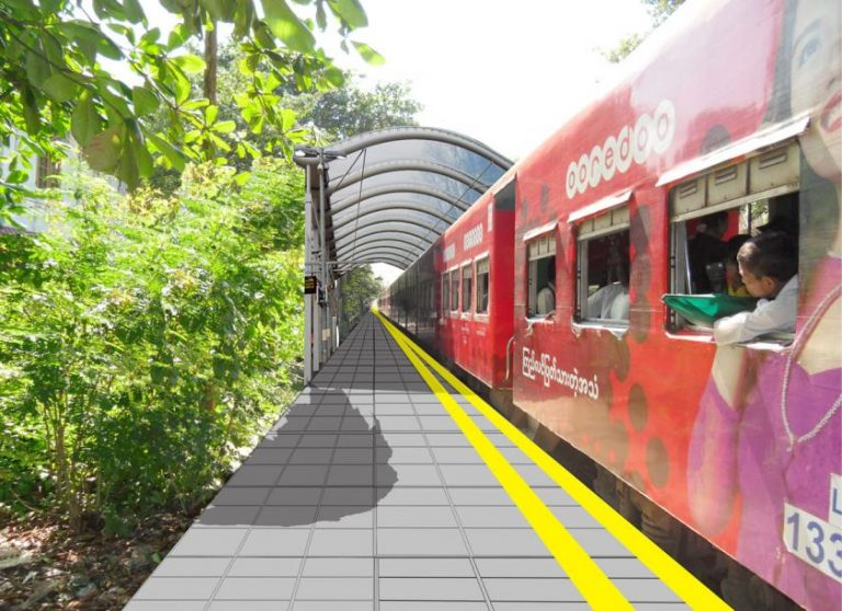 ミャンマー鉄道の鉄道駅のグレードアップ ハローコミュニケーションズが提案