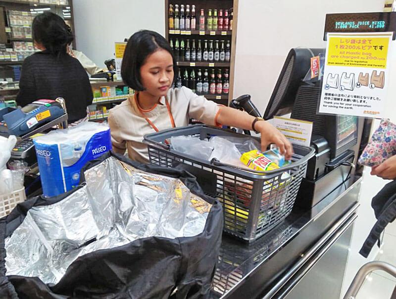 インドネシアの首都ジャカルタ5店舗でレジ袋有料化 スーパーのパパイヤ バリでは廃止