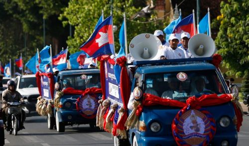 カンボジア: CPP・KNP、議会選挙活動を開始