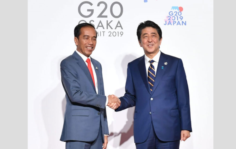 G20:EPA改正 交渉継続へ ジョコウィ大統領 安倍首相と会談