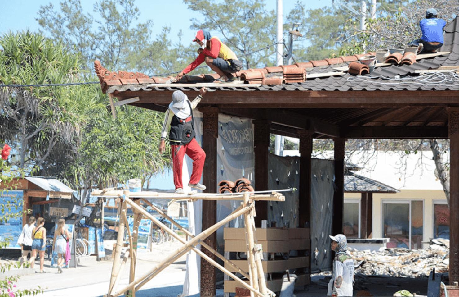 【ロンボク地震1年】地震に耐えたバンガロー 宿経営の服部さん ギリ島で再出発