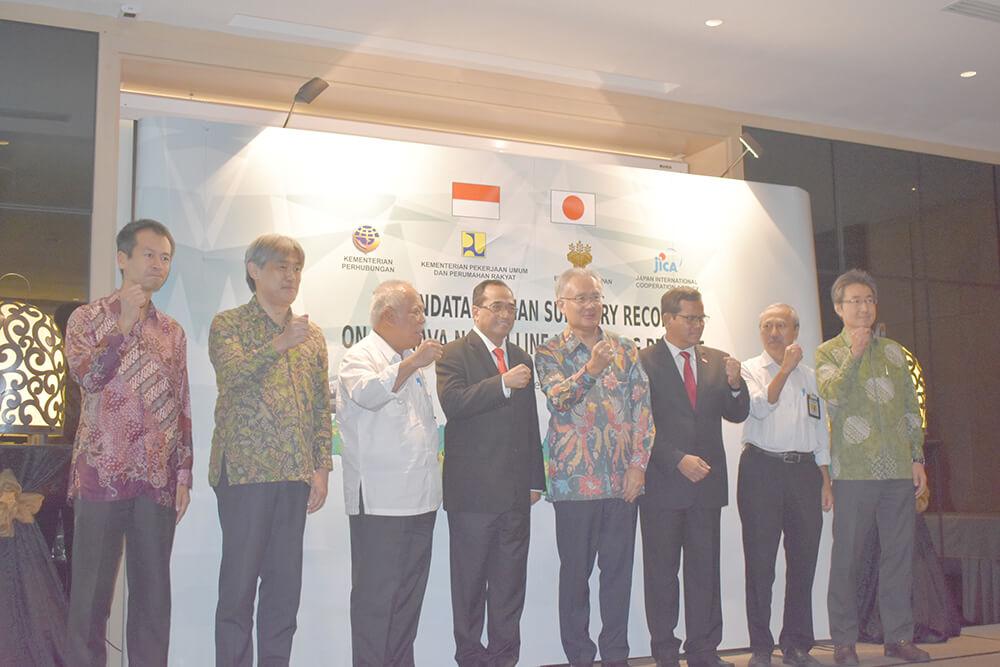 インドネシア:日イ 準備調査条件で合意 実現に向け前進  ジャワ北幹線鉄道高速化