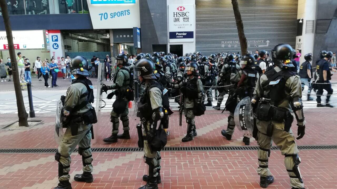 香港:デモ活動の影響で6月から犯罪増加