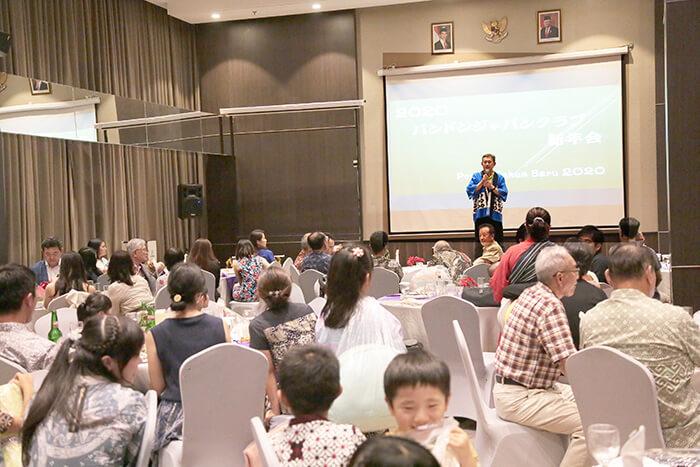 インドネシア:「申し込み最多」 にぎわう新年会 バンドン日本人会