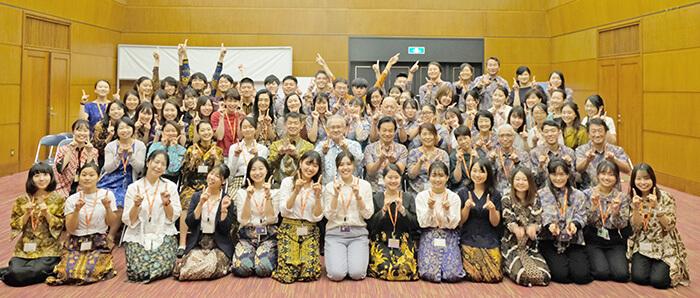 インドネシア:第11期生72人が帰国 大使館を表敬訪問 日本語パートナーズ