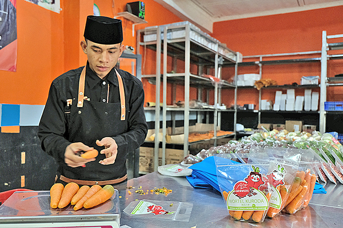 インドネシア:日本の品種生産、流通改善 JICA  西ジャワ州で農家支援