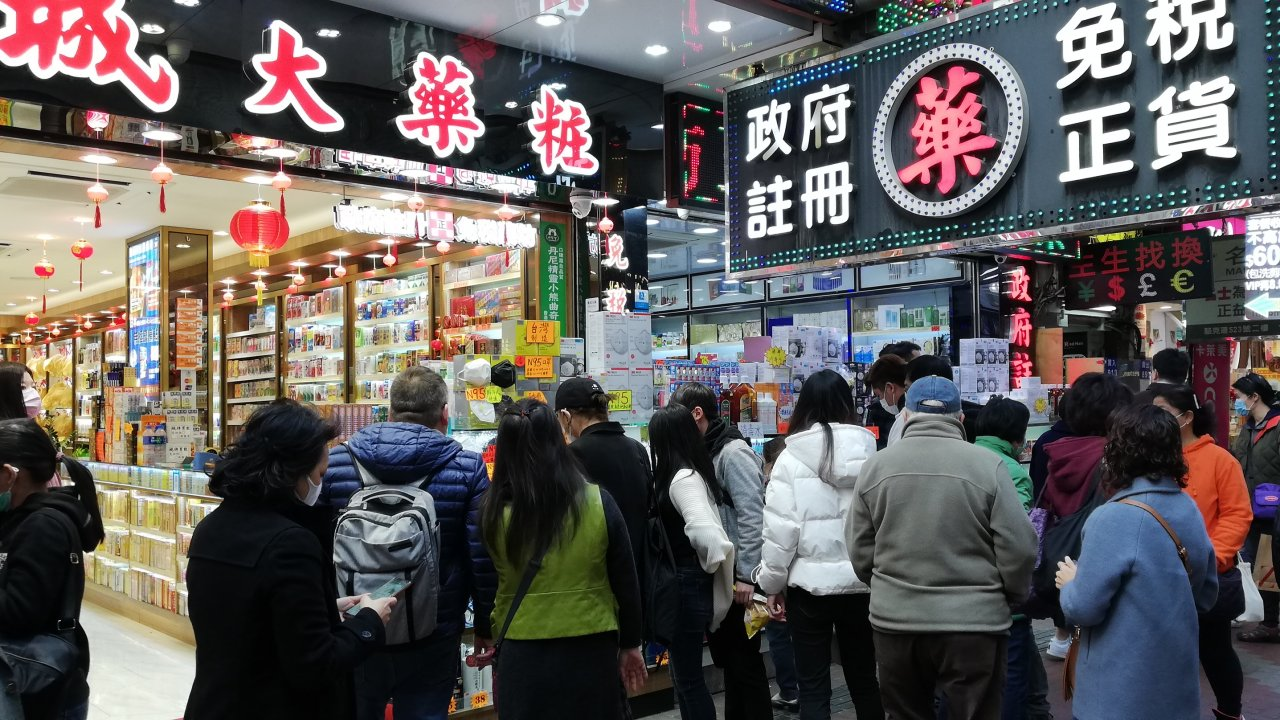 香港:新型コロナ第3波、1週間100人