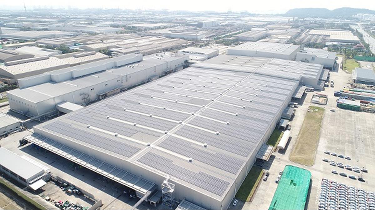 三菱自動車、タイ・レムチャバン工場で大規模太陽光発電設備を稼働