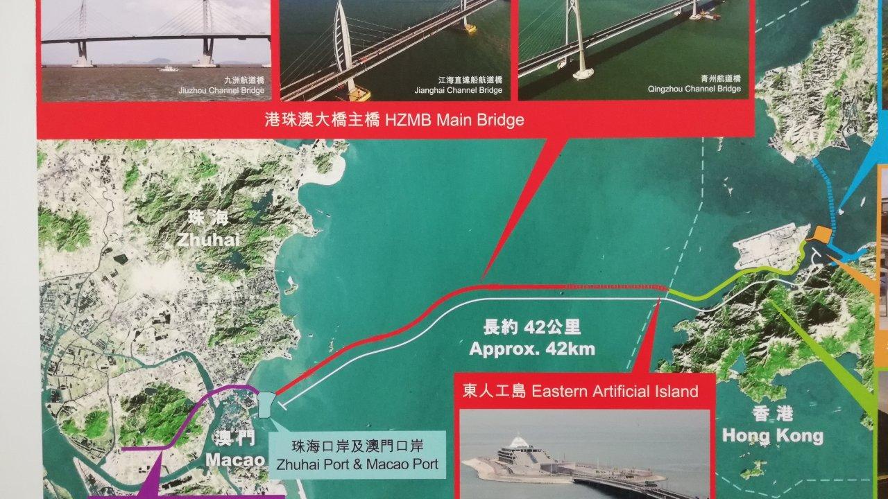 香港:港珠澳大橋の「双Y型」案が浮上